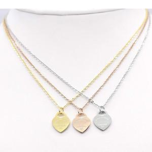 Jewerly Aço Inoxidável 18 K Banhado A Ouro Colar de Corrente Curta de Prata Colar de Pingente de Coração Medalhão Colares Correntes Para As Mulheres Presente Casal
