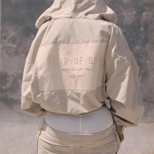 FEAR DE DIEU FOG 6 High Street Assault Jacket Veste Sweat à capuche Hip Hop Casual Skateboard Manteau Sport Outwear Abricot Noir HFHLJK024