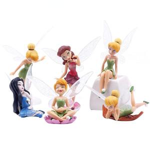 6pcs / Set DIY Miniature Voador Fairy Garden Flower Paisagismo Flor Enfeites Suculenta Decoração dos desenhos animados Crafts altura 10 centímetros