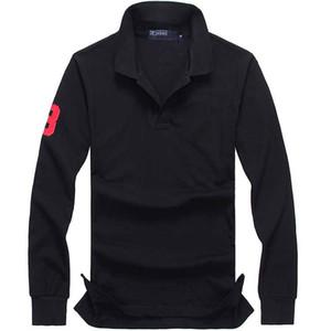 2020 Camicie Designer Mens Polo a manica lunga Crocodile Ricamo Abbigliamento Big piccolo cavallo di lusso risvolto camicia Ralph Cotone Marca Stampa Homme