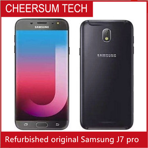 Hotsale Unlocked Refurbished Original Samsung J7 pro 2017 single SIM Cell Phone Octa Core 3GB 32GB 5.5 inch 13 MP 4G LTE free DHL
