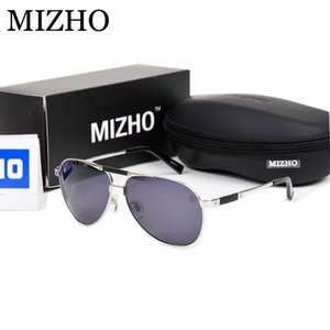Mizho Brand Travel Pilot Polarized Sunglasses Men Night Uv400 Stainless Steel Ip Vacuum Plating Sun Glasses Eyewear kHoSh