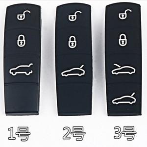 Yedek Silikon Kauçuk Anahtar Düğme Pedler Akıllı Araç Anahtar Pedleri Porsche Cayenne Macan 911 Boxster Cayman Panamera için 3 4 Düğmeler