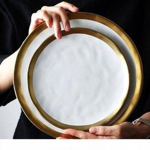 Plato de cerámica Placa Conjunto Negro vajilla del Servicio Porcelana Electrodomésticos Placa de cocina Cocina Supplie Rice Soup Bowl Vajillas