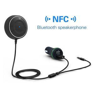 Kablosuz Araç Kiti Bluetooth V4.0 NFC AUX Müzik Ses Alıcısı Adaptörü Eller serbest 3.5mm Mikrofon Perakende kutusu ile