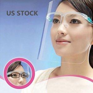 Маска США Фото Защитные лица с очки Анти Плевать масло анфас щит пыленепроницаемый Лицевой козырек ПЭТФ Прозрачная защитная крышка