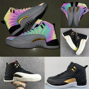 Çin Yeni Yılı mens için 12 iskarpin ayakkabı tasarımcısı Siyah Chicago lüks Athletic CNY spor ayakkabısı 12S ovo spor ayakkabıları EUR40-47 Yılanlar