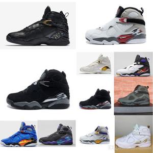 a buon mercato Uomini scarpe da basket Jumpman 8 VIII retrò 8s oro OVO MVP Championship nero bianco aj8 air voli sneakers stivali j8 in vendita con scatola