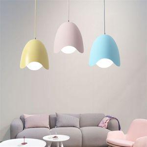 Macaron studio lampada a sospensione personalità creativa a forma di uovo ristorante bar lampadario nordico camera da letto in ferro battuto ufficio lampadario-Le6