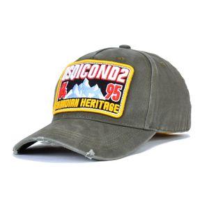 Heißer Verkauf DSQICOND2 Designer Casquette Dad Hip Hop Baseball D2 Cap Casquette Hats festes Muster Kappen Letters Hysteresen-Kappen für Man Kappen