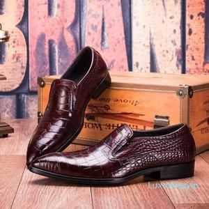 Fashion2019 Sharp England 059-10 Set Foot Man Crocodile Wen Chao Shoe Cowhide Correct Dress Leather Shoes Male