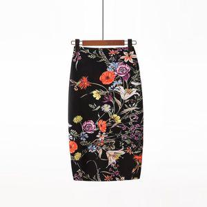BONJEAN Women's Pencil skirt New Cartoon Print High Waist Slim Skirts Young Girl Summer Japan Female Falda