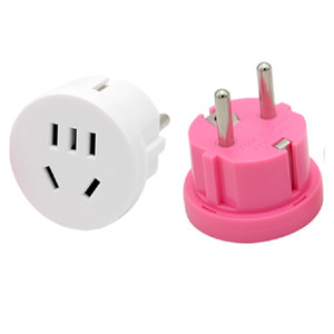 Travel Wall AC Power Plug Wall Charger Outlet Adapter Converter 2 Round Pin Socket US AU To EU Plug USA AUS To Euro Europe