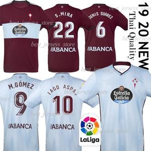 Üst Kalite Kit futbol 2019 2020 RC Celta de Vigo Futbol Forma LOBOTKA Iago Aspas Santl MINA çocuklar Futbol Gömlek SISTO BOUFAL camiseta