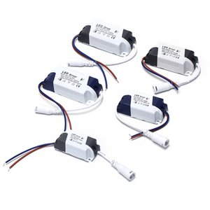1-3W, 4-7W, 8-12W, 15-18W, 18-24W LED d'alimentation du conducteur éclairage intégré de courant constant 110-265V Sortie 300mA Transformateur