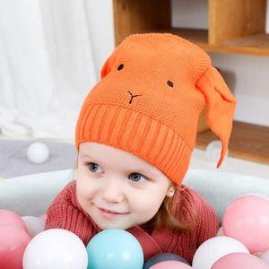 Autumn Winter Baby Cartoon Bunny Ears Hat Kids Knitted Cap Girls Boys Warm Beanies Children Hats 5369