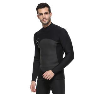 SBART hommes 2MM Wetsuits Top néoprène Veste manches longues Protection UV de bain Jumpsuit shirt planche à voile Smoothskin Vestes Néoprène