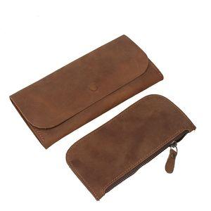 Retro Men Wallet Long Real Cow Genuine Leather Large Capacity Travel Clutch Purse Phone Holder Zipper Slim Handmade Bag