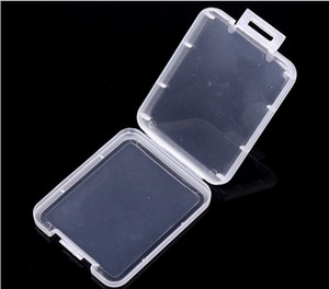CF Card Plastic Case box Transparent Standard Memory Card Holder MS white box Storage Case for TF micro XD SD card case