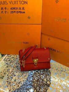 Lumineux et verrouillage accrocheur nouveau haut de gamme de la mode féminine sac à bandoulière unique 022003