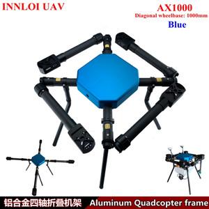 INNLOI bricolage 1000 mm Drone pli cadre quad copter Accessoires en aluminium multi rotor pour pulvérisation agricole / commercial / industriel UAV
