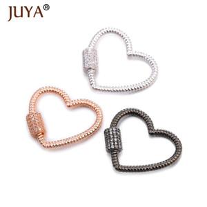 Juya simple coeur en spirale fermoirs Pendentifs Screw Lock fermoirs pour bijoux bricolage Femme Collier Bracelet Faire Accessoires