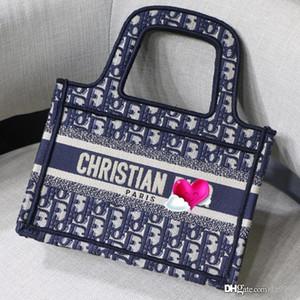 OBLIQUE EMBROIDERED MINI LIBRO Tote di lusso del progettista mini borsa delle donne del sacchetto delle nuove donne ricamo di alta qualità con la scatola