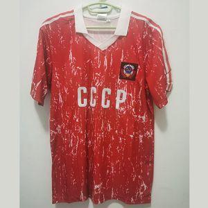Retro Unión Soviética 1989/91 fútbol jerseys CCCP URSS Futbol del fútbol del vintage Camisetas clásicas camisas Kit