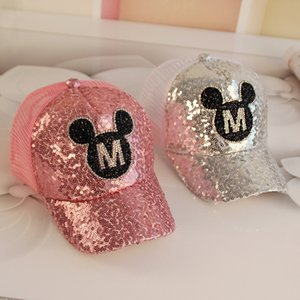 2018 Hot Sequins Ear Hats Kids Snapback Baseball Cap With Ears Funny Hats Spring Summer Hip Hop Boy Hats Caps