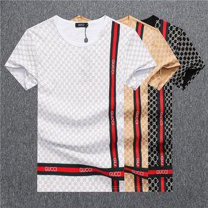 Herren Designer-T-Shirts Mode-Männer Kleidung 2020 Sommer-beiläufige Street T-Shirt Rivet Baumwollmischung mit Rundhalsausschnitt Short Sleeve TX2
