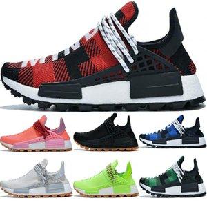 New arrival HU human race pharrell williams Gum Pack black volt pink Digijack Blue Plaid mens trainers fashion sports sneakers
