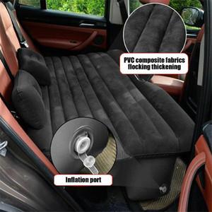Viajes de aire del coche inflable colchón de la cama universal para asiento trasero de múltiples funciones al aire libre Sofá Almohada Cojín Colchoneta J10