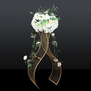 4pcs / lot Ferro battuto Decorazione di nozze Props Griglia S a forma di onda Strada Piombo accessori geometrica Box Tropical Party T impostare il layout della decorazione