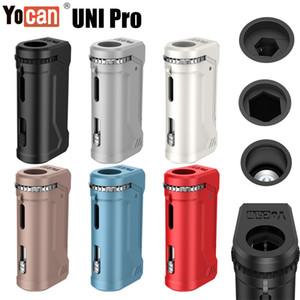 1PC Orijinal Yocan UNI Pro Vape Kutusu Mod Takımı 650mA Onceden Değişken VV 2.0V 4.2V Pil E Sigara Vape Kalem Fit Tüm Vape Kartuş Stokta