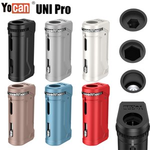 1PC original Yocan UNI Pro Vape caja Mod Kit 650mA Precalentar variable VV 2.0V 4.2V E cigarrillos Vape pluma Ajustar todo Vape en el cartucho de