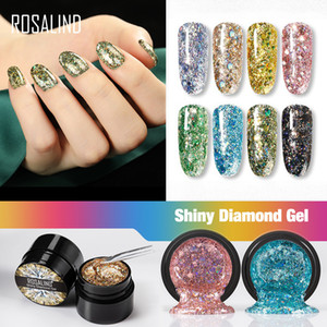 ROSALIND Gel Nail Polish Rainbow Neon Hybrid Varnishes For nails Manicure set Decoration Need Base top coat UV LED Gel