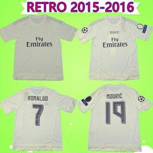 2015 2016 Ronaldo Реал трикотажные изделия футбола ретро Бензема футбол рубашка 15 16 JAMES Vintage Camiseta де fútbol PEPE SERGIO RAMOS Майо