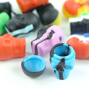 15 ml Schädelform Antihaft-Silikon-Tupfer-Behälterglas Antihaft-Silikon-Behälter-Kasten für Wachs-Silikon-Gläser