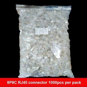 5000pcs / lot Qualitäts-8P8C RJ45 RJ45 CAT5 CAT5E Modular-Stecker-Netzwerkanschluss-Ethernet-LAN-Kabel Modularstecker