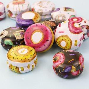 Folha de flandres Candle Jar vazio Tin Can Donut metal Handmade Aroma Candle Making Acessórios Mini Box com tampa Pequeno Home Decor