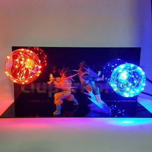 Dragon Ball Z Vegeta Son Goku Super Saiyan Led Lâmpada de iluminação anime Kids Toy Gift Action Figures DIY Anime Goku modelo