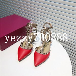 Summer 2020 new high-quality luxury ladies fashion single shoes slippers sandals casual shoes heel height 4cm fashion casual wild fdzhlzj