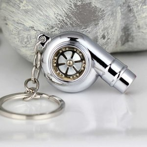 Turbo Keychain Car Whistle Sound Keychain Car Key Chain Keyring Car Sleeve Bearing Spinning Model Turbine Turbocharger