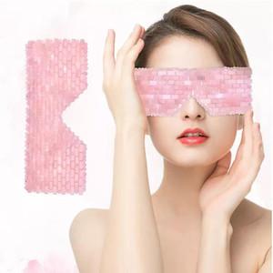 Ojo máscara máscaras del sueño natural de cuarzo rosa de piedra curativo del ojo del sueño Máscaras Terapia Germanio Capacidad de enfriamiento Relax Cuidado de la Salud