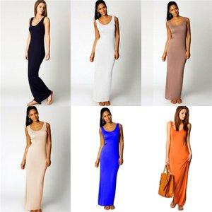 Середина теленок Мода Одежда Три цвета Повседневной одежды женщины Summer Beach Sling Сидит платья без бретелек Contrast # 475