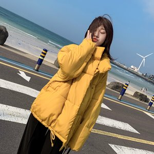FMFSSOM 2019 donne d'inverno caldo cotone Ladys cappotto Solid giacca spessa palla Femminile manica lunga tasca Puffy Jacket
