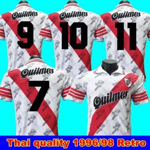 1996 camisas de futebol 1998 Retro rio versão Placa 95 uniformes de futebol 96 Início Caniggia Francescoli Camisas de Futebol da camisa do futebol de qualidade