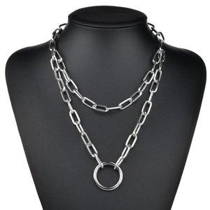 KingDeng Long себе ожерелье ювелирных изделия персонализированного Punk Hip Hop Circle Gold Chain Женщина двухслойного Boyfriend подарки мода