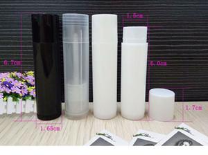 5ml Cosmético Vacío Chapstick Lipstick Lipstick Balm Tubo y Caps Contenedor Negro Blanco Color claro para envío
