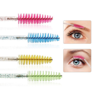 Brillant à usage unique 50pcs Cils Applicateur Wands Bigoudi Set Brosse Mascara Sourcils Spouleurs peigne Spoolies Brosses Wands